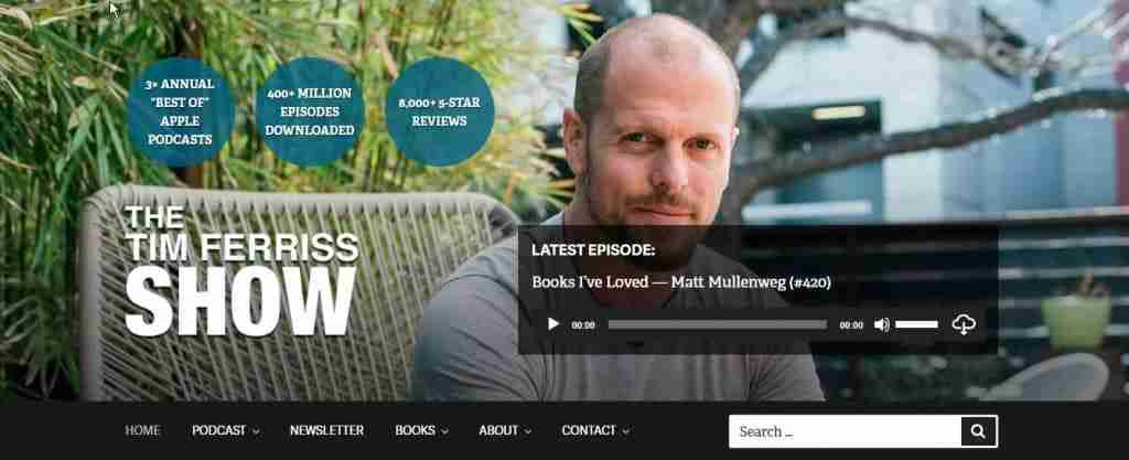tim ferriss blog homepage