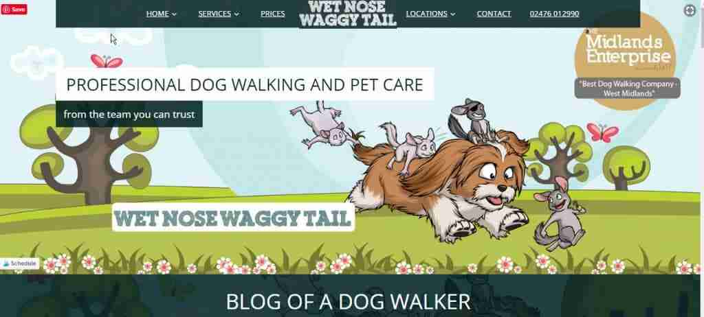 wet nose waggy tail blog homepage