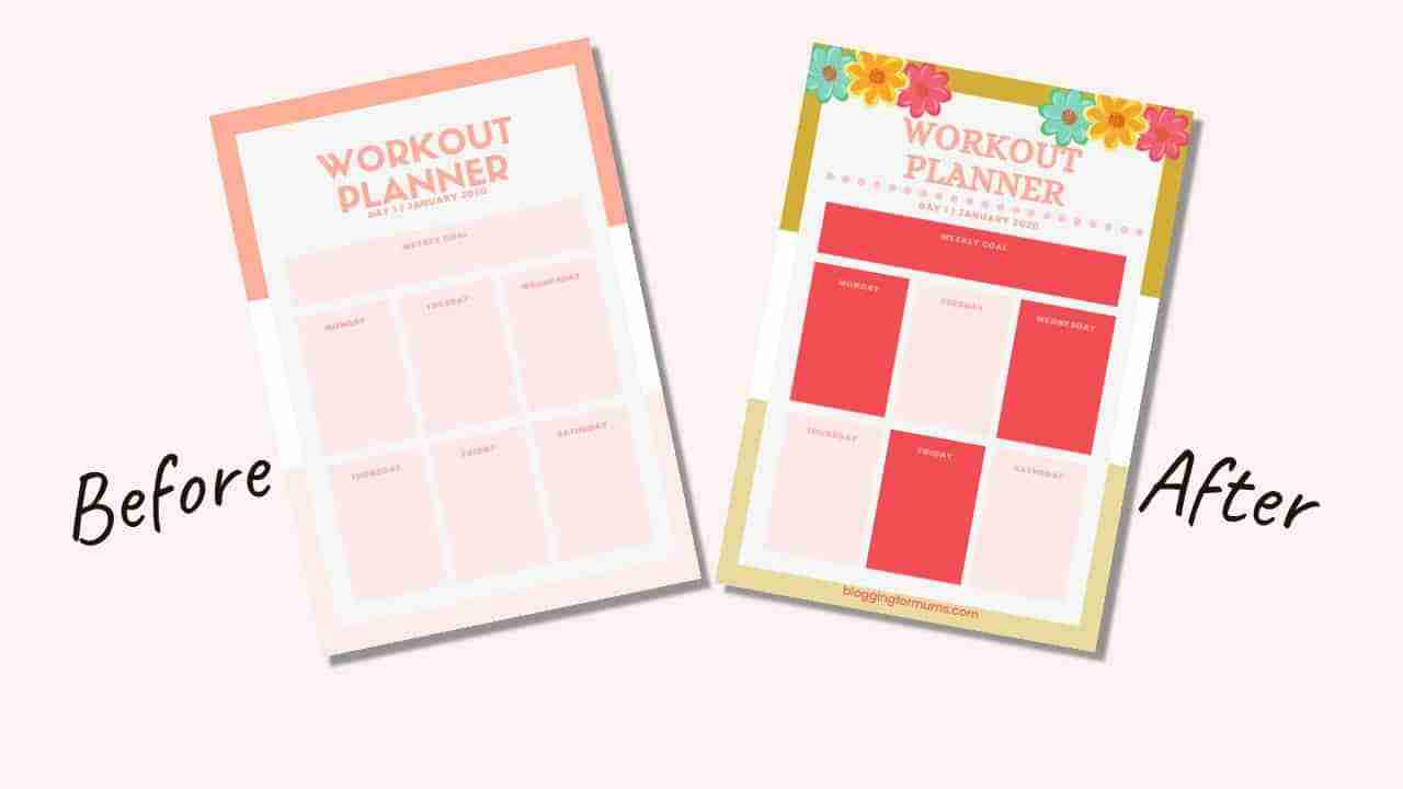 before and after planner