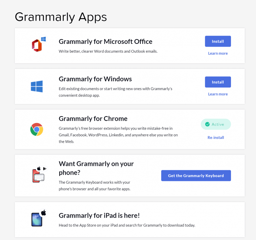grammarly for devices