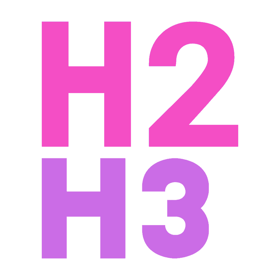 headings H2 and H3