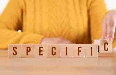 Be specific with your blog posts
